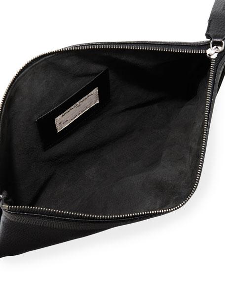 Monili Fringe Wristlet Clutch Bag, Black
