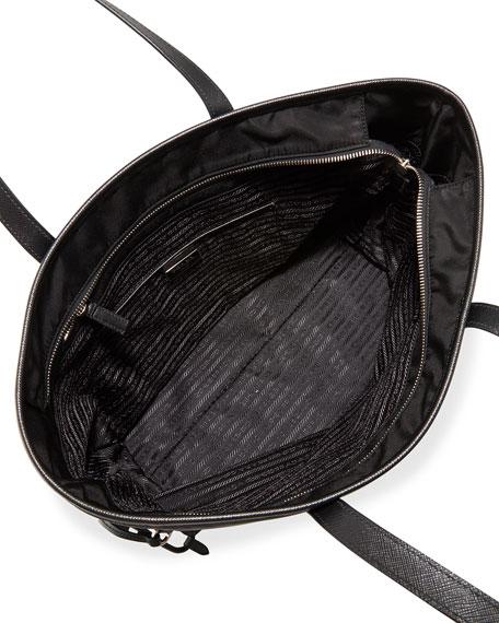 Vela Side-Cinch Shopping Tote Bag, Black (Nero)