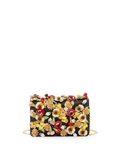 PRADA Saffiano Garden Floral Crossbody Bag