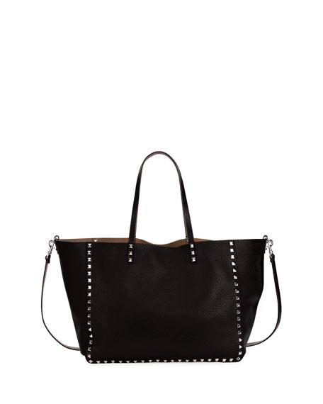 Valentino Medium Double Rockstud Reversible Tote Bag,