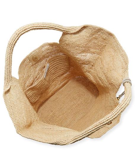 Grace Bay Raffia Beach Bucket Bag