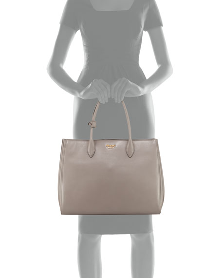 f86aacec4f15 Prada Bibliotheque XL Soft Leather Tote Bag