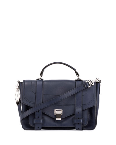 PS1+ Medium Leather Satchel Bag  Indigo