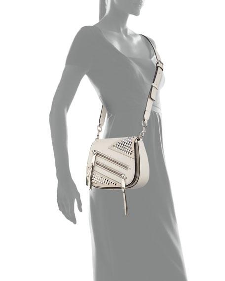 Nomad Small Studded Saddle Bag Dove
