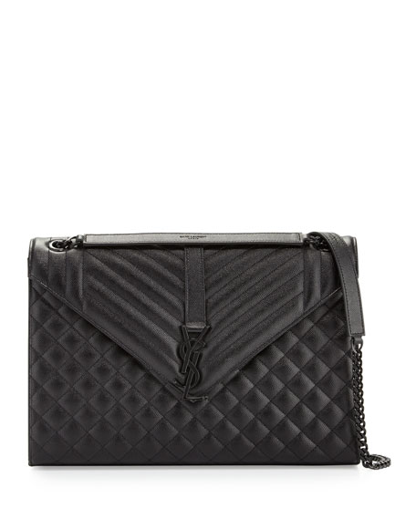 Saint Laurent Monogram Large Chain Tri-Quilt Shoulder Bag,