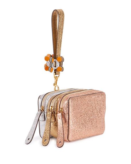 The Stack Circulus Wristlet Bag, Salmon