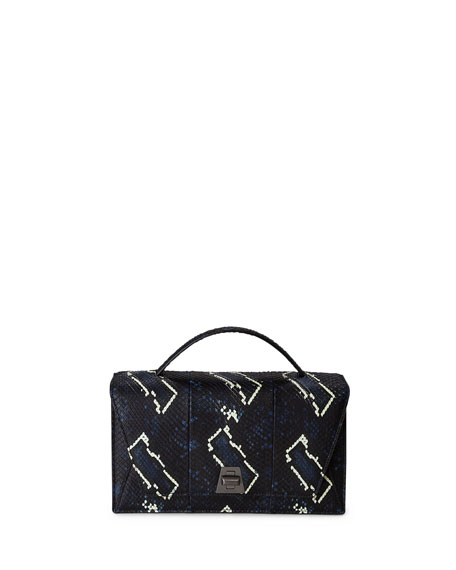 Akris Anouk City Python Shoulder Bag