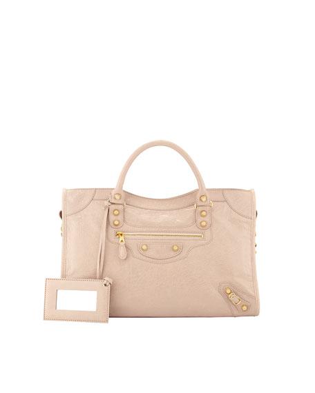 5139ce68647 Balenciaga Giant 12 Golden City Bag, Blush