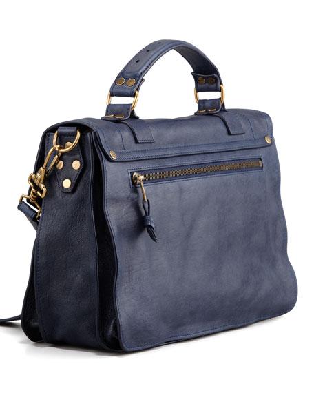 PS1 Medium Calfskin Satchel Bag, Midnight