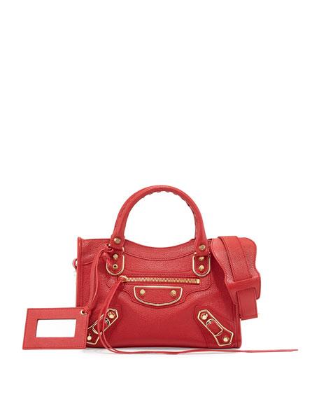 5091aeefbd00 Balenciaga Metallic Edge City Mini AJ Satchel Bag
