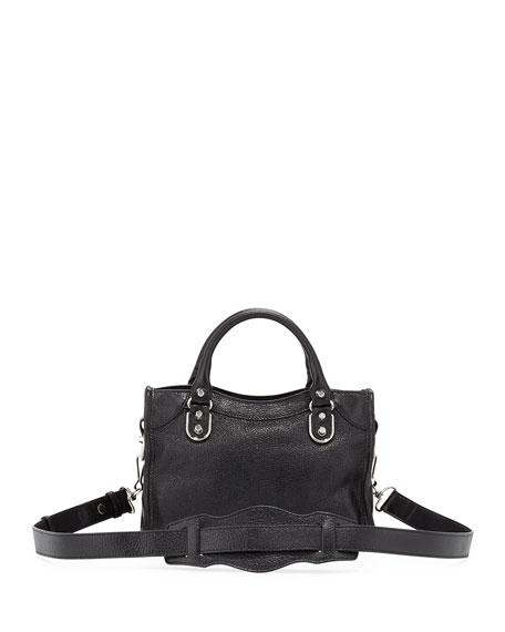 Metallic Edge Classic Mini City Crossbody Bag, Black
