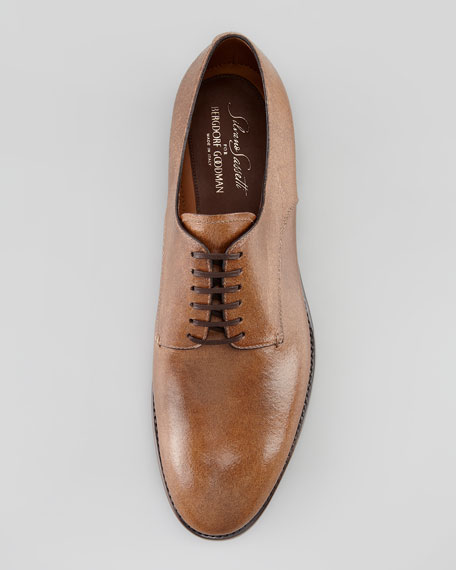 Lace-Up Horse Leather Blucher, Neutral
