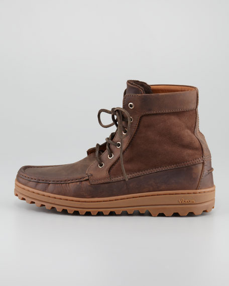 Lace-Up Leather Mountain Boot