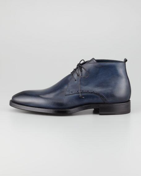 Leather Chukka Boot, Night Blue
