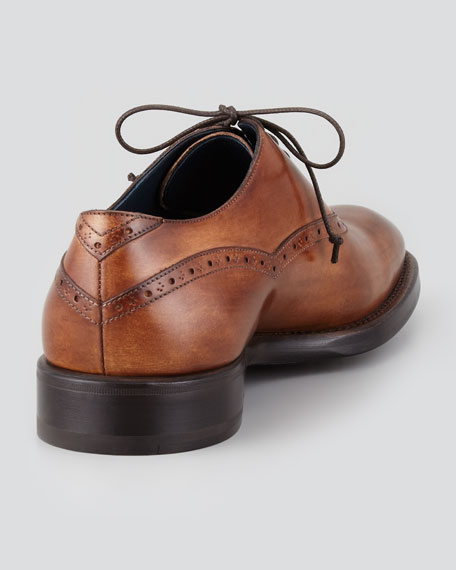 Burnished Lace-Up Oxford