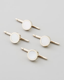 Set of Four Mother-of-Pearl Round Studs
