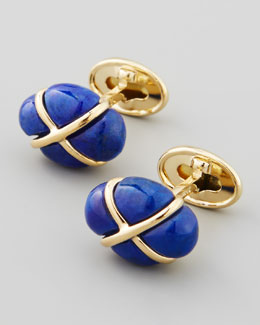 Trianon Lapis Cage Cuff Links