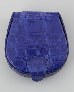 Crocodile Cuff Link Case, Royal Blue