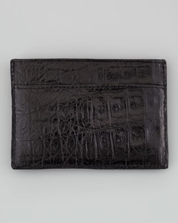 Crocodile Card Holder, Black