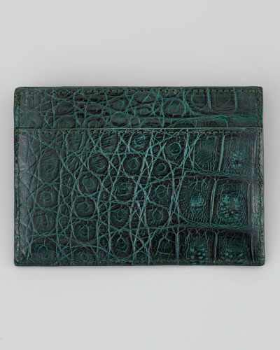 Crocodile Card Holder, Green