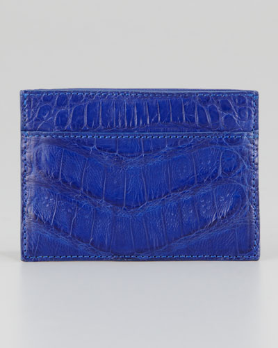 Crocodile Card Holder, Royal Blue