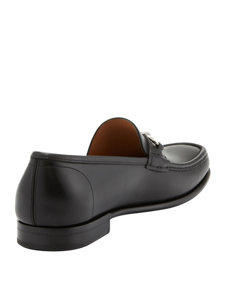 Raffaele Leather Gancini Loafer