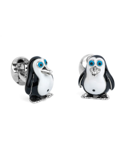 Fatty Penguin Cuff Links