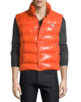Moncler Tib Puffer Vest, Red