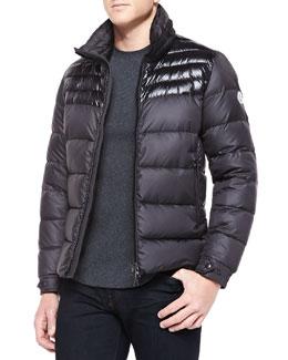 Moncler Dinant Matte/Shiny Puffer Jacket, Blue