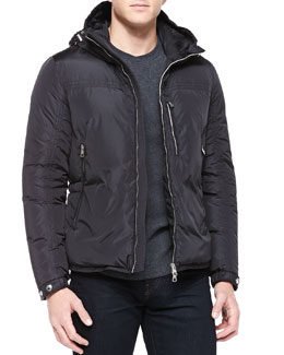 Moncler Gary Hooded Puffer Jacket, Back