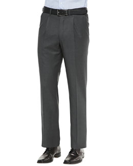 Single-Pleat Trousers, Charcoal