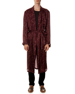 Dancer-Print Lightweight Robe