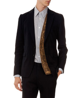 Baxter Two-Button Jacket with Embellished Panel