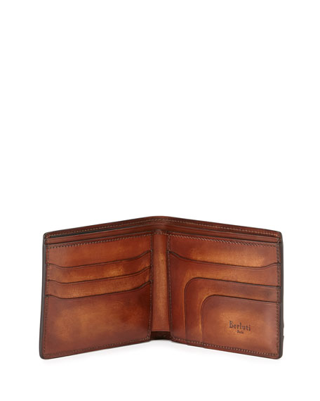 Amarello Leather Bifold Wallet, Brown