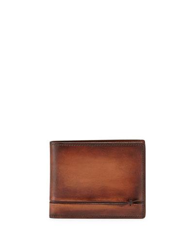 Amarello Leather Bifold Wallet, Brown