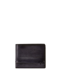 Amarello Leather Bifold Wallet, Black