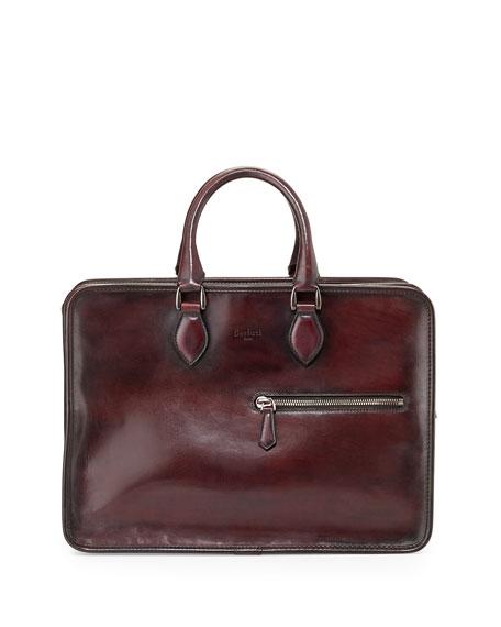 Achats En Ligne Avec Mastercard Berluti Deux Jours Leather Briefcase - Red Jeu Pas Cher U4YLiOu0