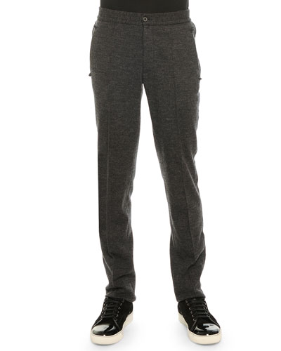 Raw Edge Sweatpants, Charcoal