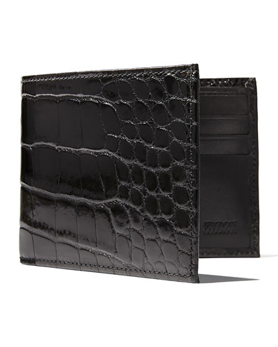 Alligator Narrow Bifold Wallet