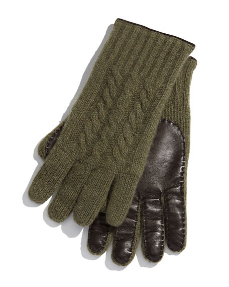 Cashmere & Napa Leather Gloves