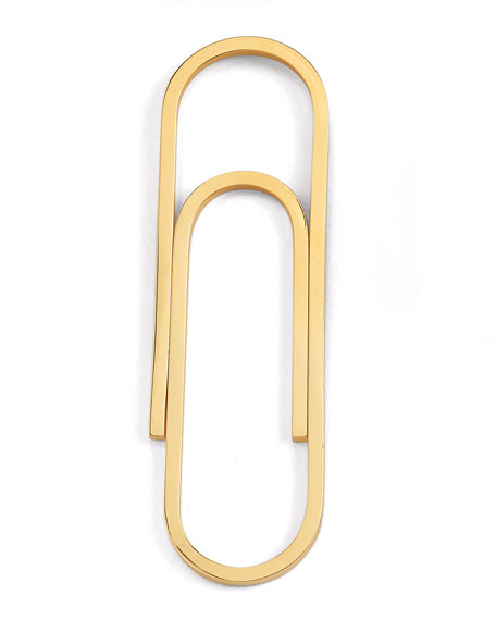 14K Yellow Gold Paperclip Money Clip