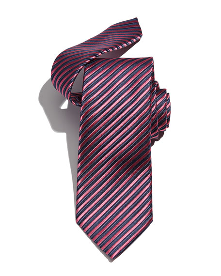 Assorted Silk Striped Ties in Maroon