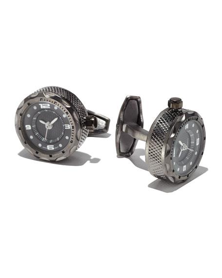 Sterling Silver Watch Cuff Links
