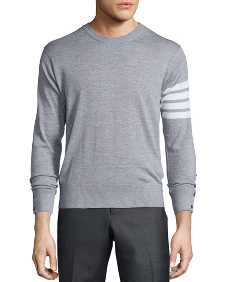 a83231bdfa89 Thom Browne Merino Wool Crewneck Sweater