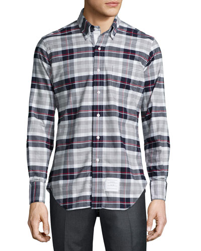 Large Plaid Oxford Shirt