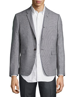 Check & Glen Plaid Three-Button Jacket