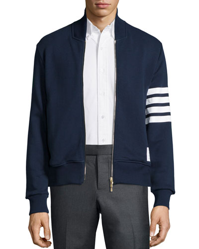 Merino Wool Track Jacket, Navy