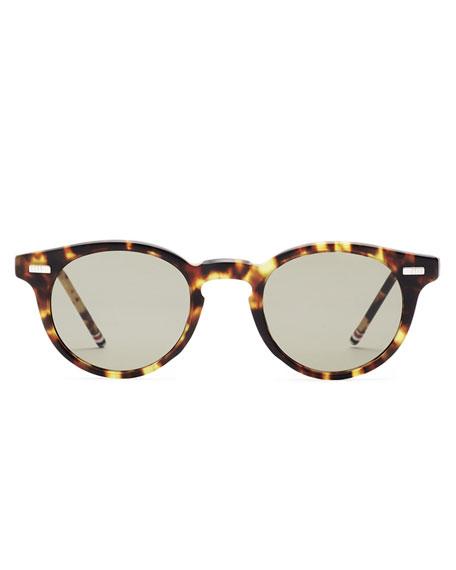 Tortoise Acetate Round Sunglasses