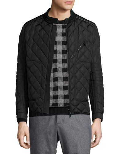 Lalay Quilted Moto Jacket, Black