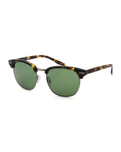 Coxsone Metal & Acetate Sunglasses, Champagne